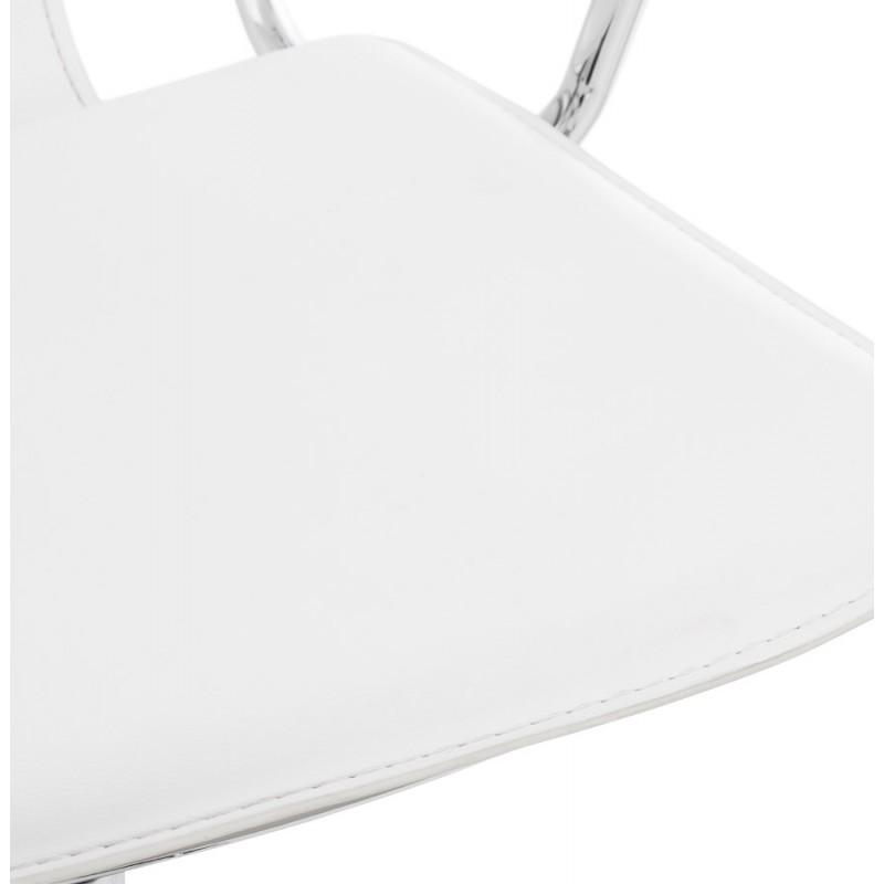 Fauteuil de bureau CHIPIE rotatif en polyuréthane (blanc) - image 18644