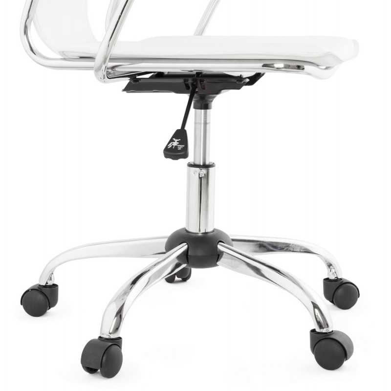 CHIPIE rotary office armchair in polyurethane (white) - image 18646