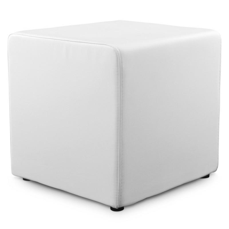 Pouf carré CAILLE en polyuréthane (blanc) - image 18652