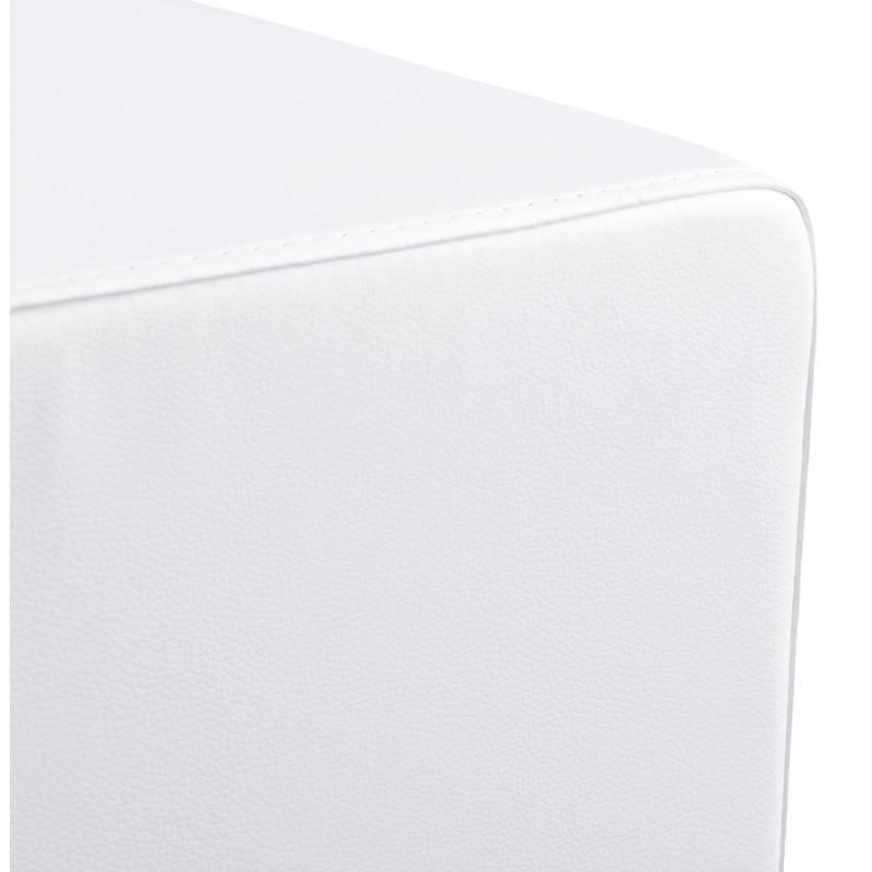 Pouf carré CAILLE en polyuréthane (blanc) - image 18655