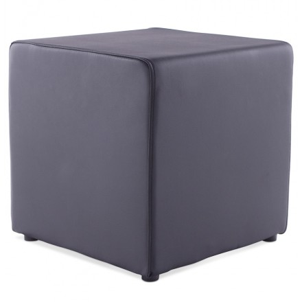 Pouffe square CAILLE in polyurethane (black)