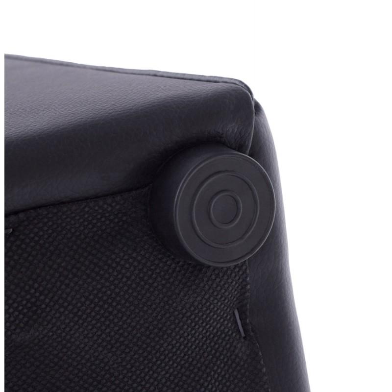 Quadrato quaglie poliuretano pouf (nero) - image 18662