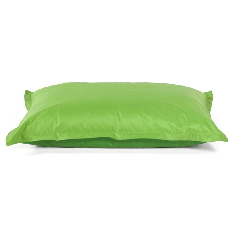 Pouf rectangulaire BUSE en textile (vert) - image 18669