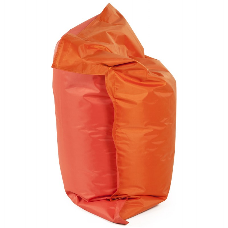 Pouf rectangulaire BUSE en textile (orange) - image 18677