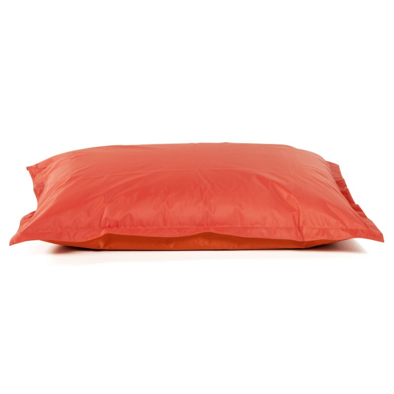 Pouf rectangulaire BUSE en textile (orange) - image 18681