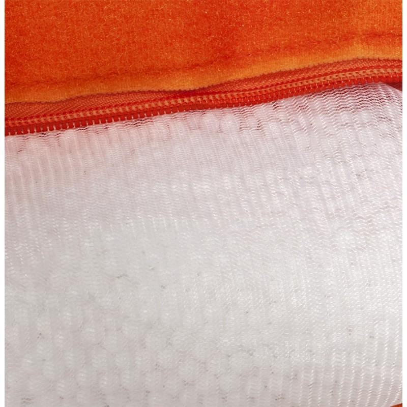 Pouf rectangulaire BUSE en textile (orange) - image 18685