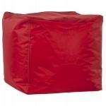 Piazza pouf CALANDRE tessile (rosso)