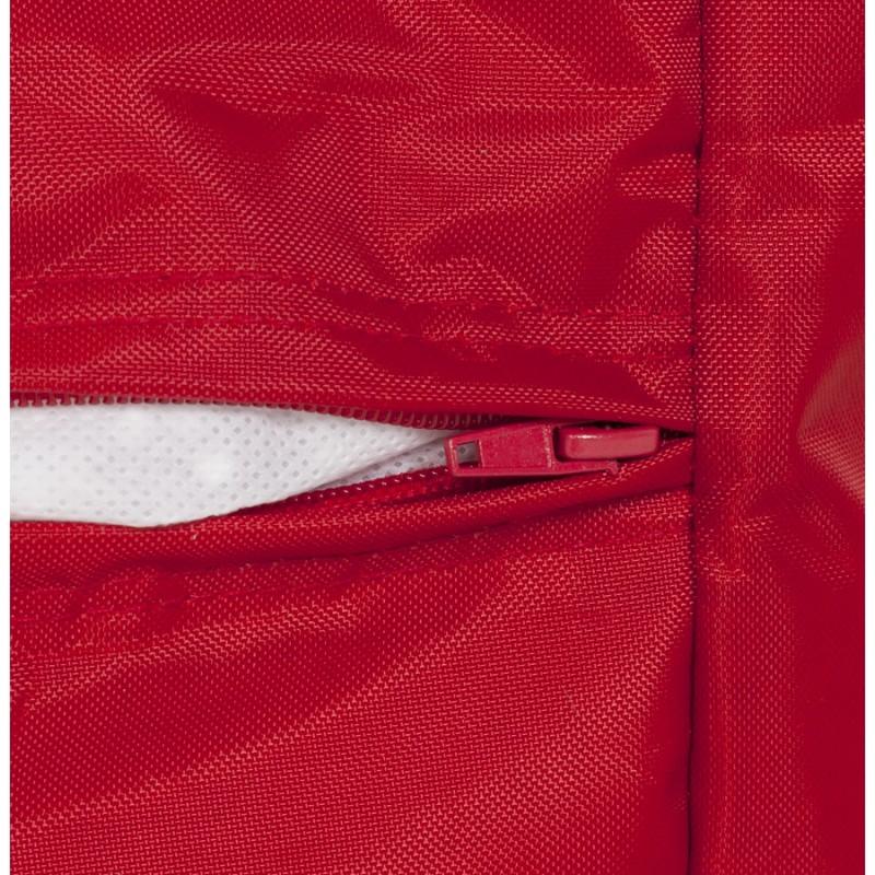 Pouf carré CALANDRE en textile (rouge) - image 18698