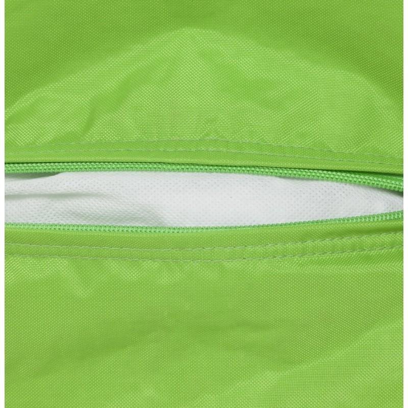 Pouf carré CALANDRE en textile (vert) - image 18705