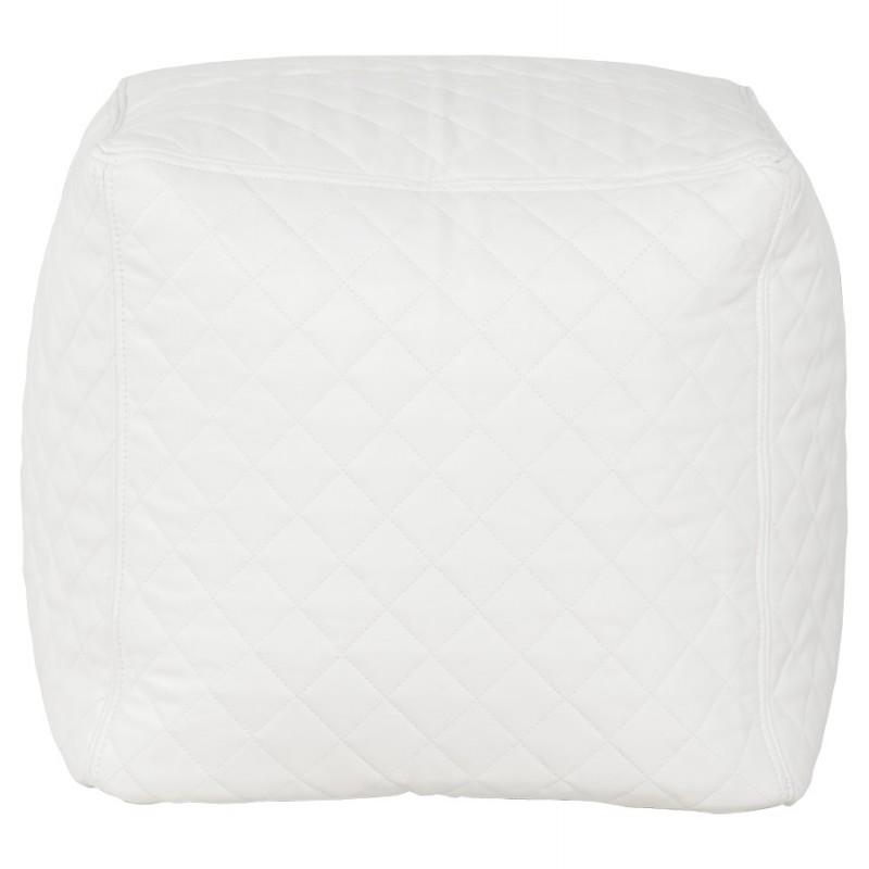 Pouf carré CARIL en polyuréthane (blanc) - image 18708