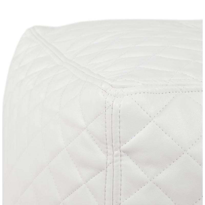 Pouf carré CARIL en polyuréthane (blanc) - image 18710