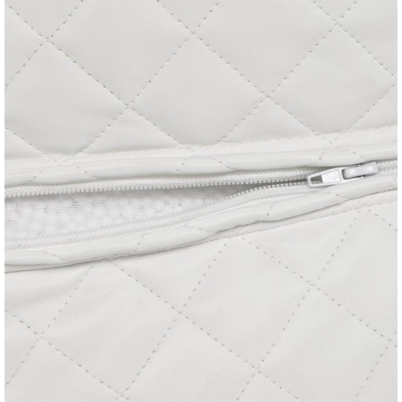 Pouf carré CARIL en polyuréthane (blanc) - image 18712