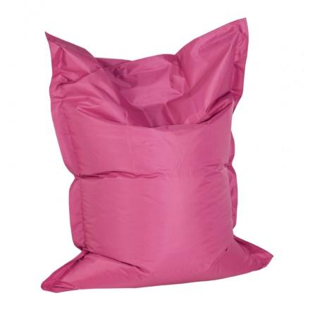 Pouf rettangolare tessuto BUSE (rosa)