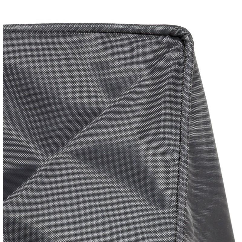 Pouf rectangulaire CAMA en textile (gris) - image 18723