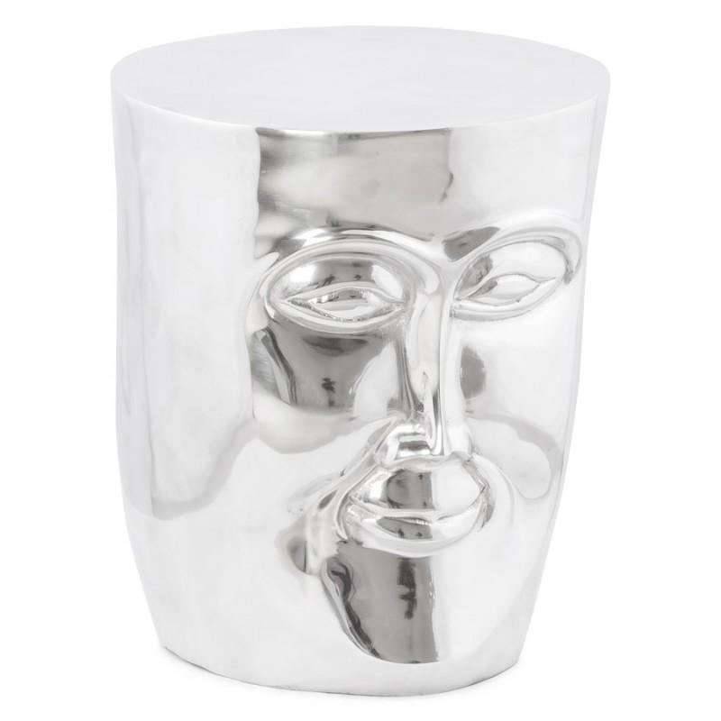 Pouf design NATE en aluminium poli  - image 18730