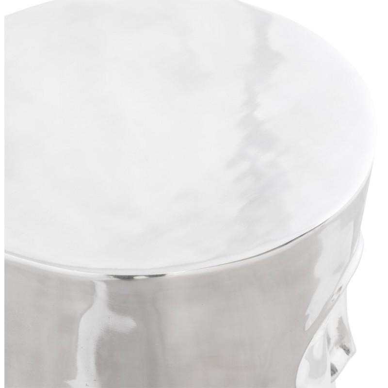 Pouf design NATE en aluminium poli  - image 18736