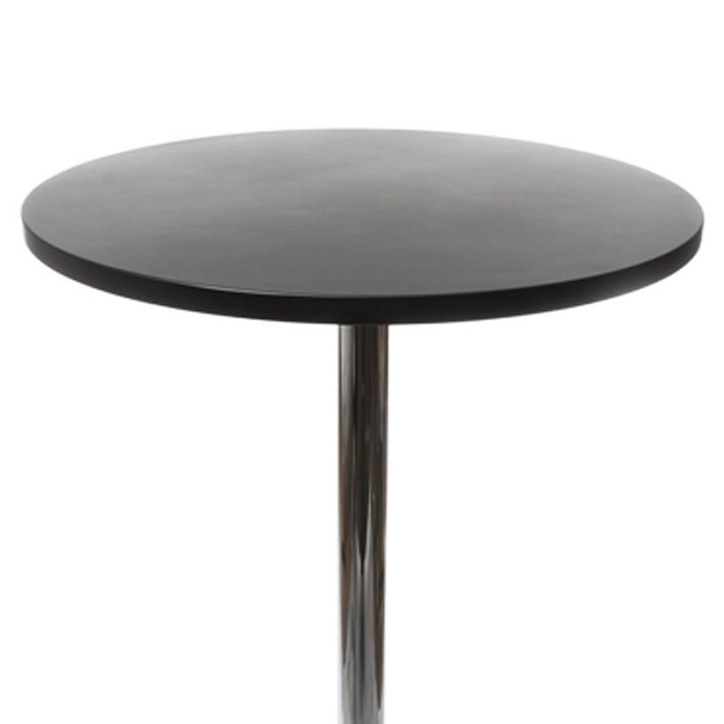 Table haute d 39 appoint baleare en bois et m tal chrom - Table d appoint haute ...