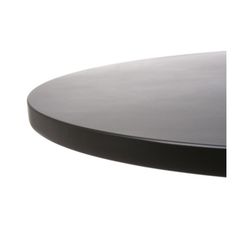 Table haute d'appoint BALEARE en bois et métal chromé (Ø 60 cm) (noir) - image 19816