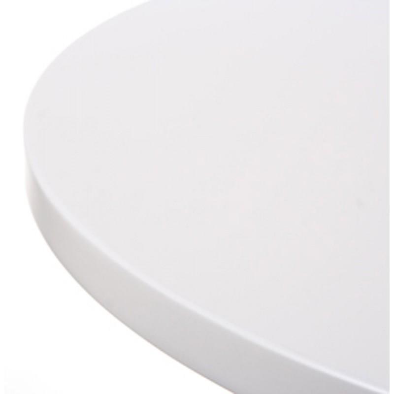 Table haute d'appoint BALEARE en bois et métal chromé (Ø 60 cm) (blanc) - image 19822