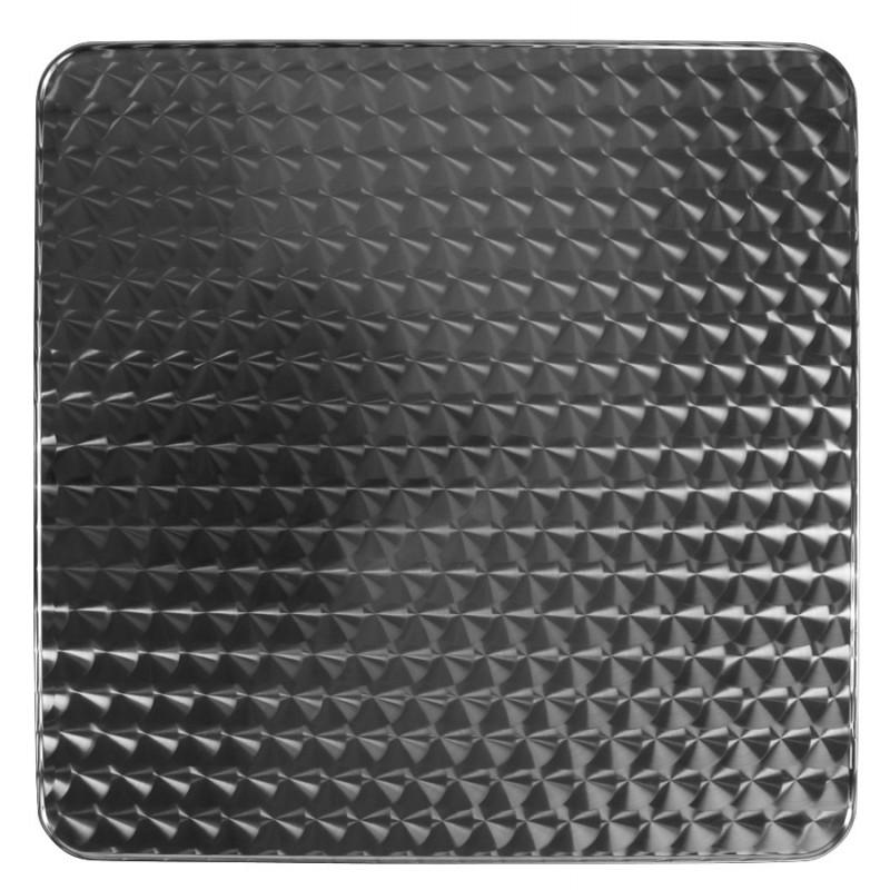 Plateau de table carré ANIS en bois et acier inoxydable (60X60X2cm)