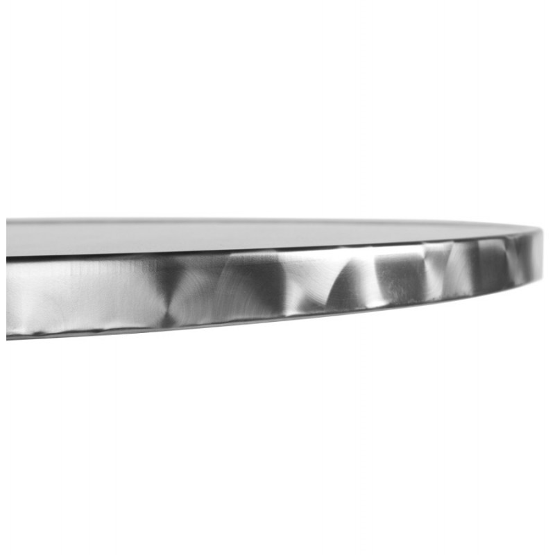 plateau de table rond anis bois et acier inoxydable 70cmx70cmx2cm acier. Black Bedroom Furniture Sets. Home Design Ideas