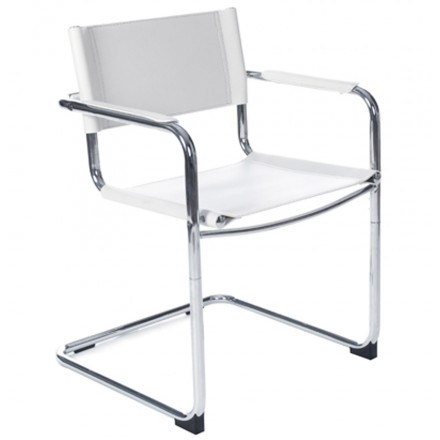 Chaise de bureau design TAHITI (blanc)