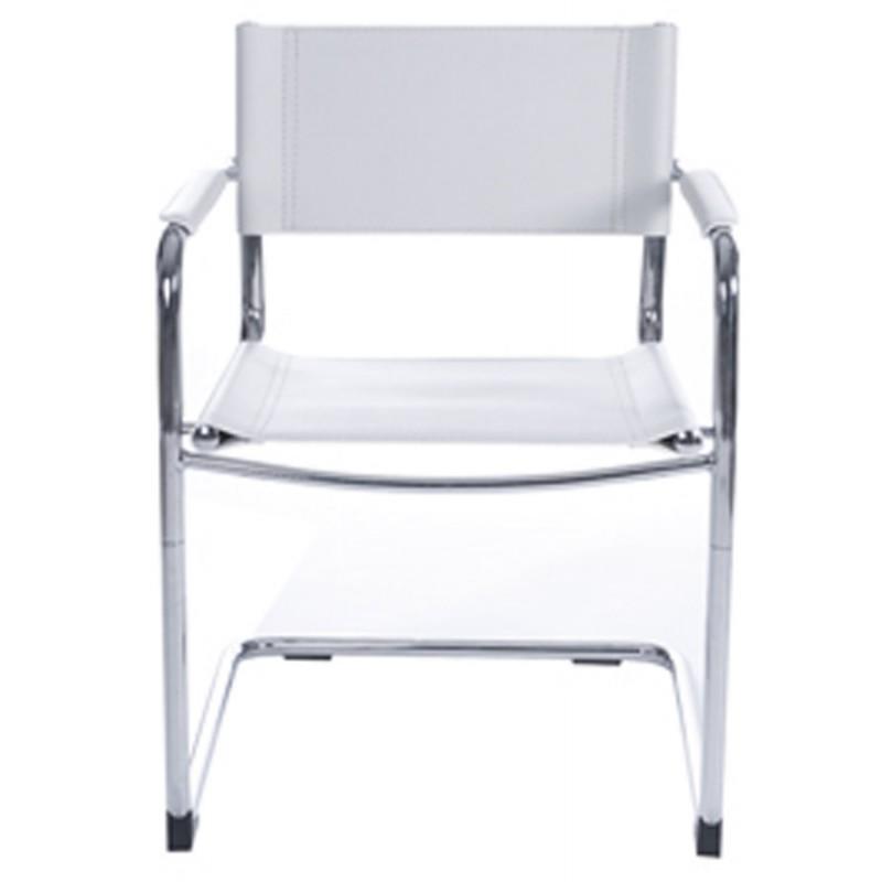 Chaise de bureau design tahiti blanc - Chaise metal cuir ...