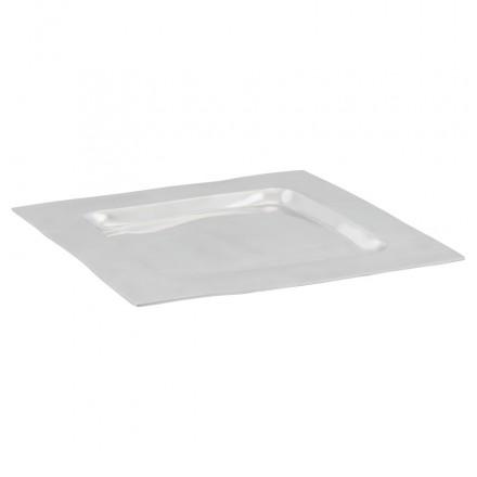 Centro del tavolo SPIRIT quadrato in alluminio (alluminio)