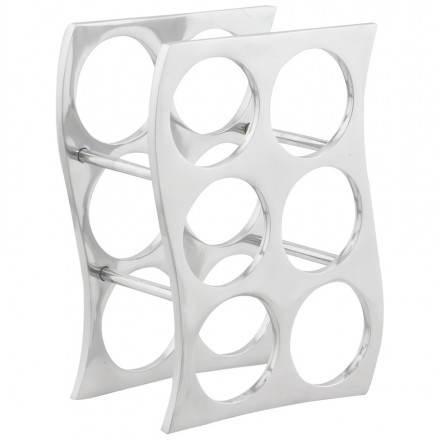 Porta bottiglie HOLES in alluminio (alluminio)