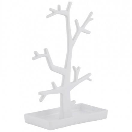 Jewellery tree FOULY metal (withe)
