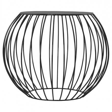 Table basse design ANITA en métal peint (noir)