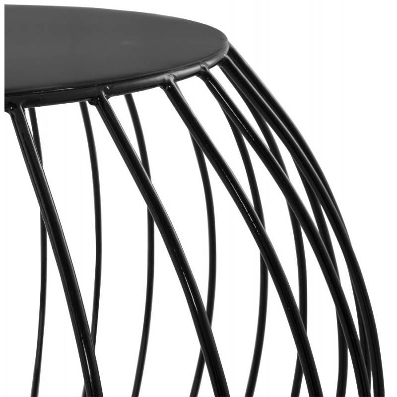 Table basse design anita en m tal peint noir - Table basse metal noir ...