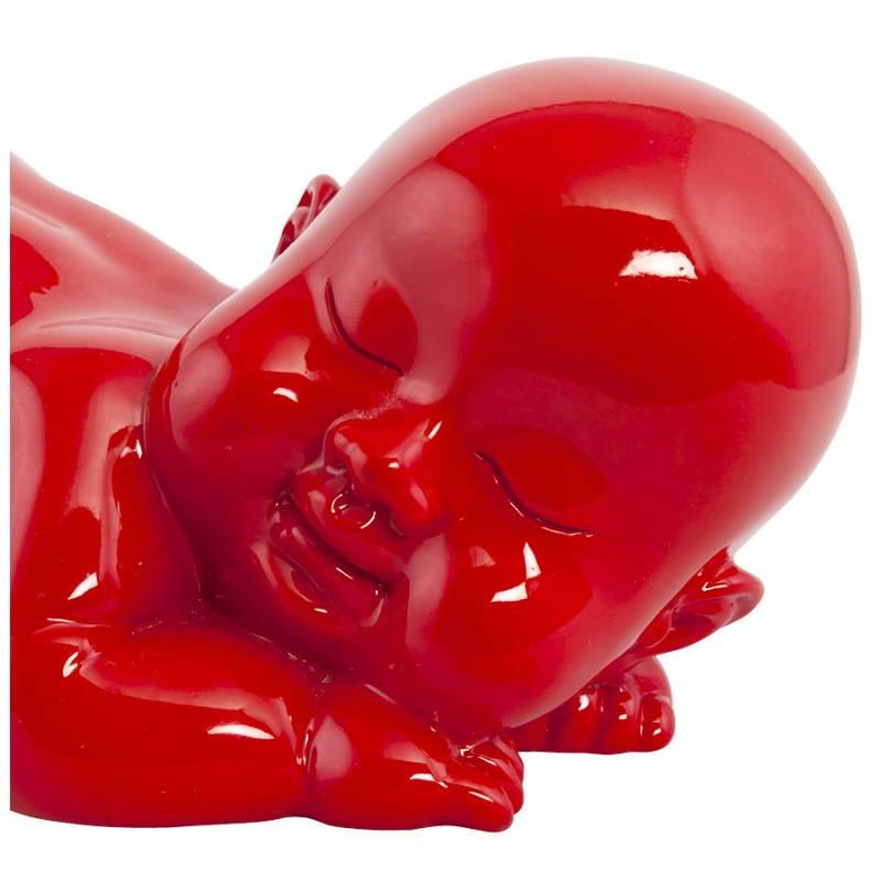 Figura forma mentira a bebé de fibra de vidrio de LAURE (rojo) - image 20210