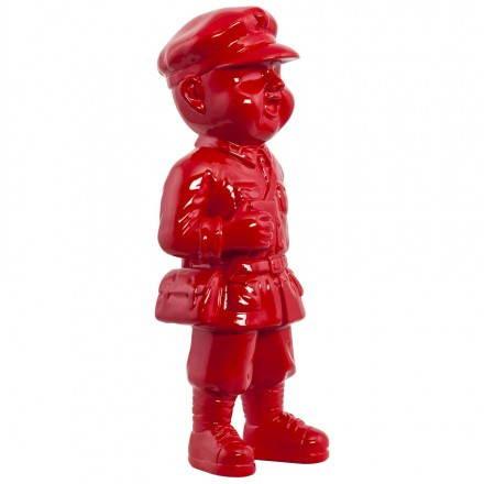 Statuette forme bonhomme SANY en fibre de verre (rouge)
