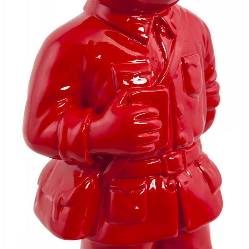 Statue geformt Schneemann Fiberglas SANY (rot)  - image 20221