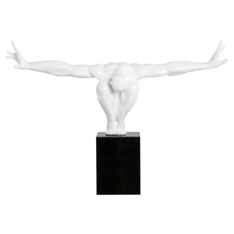 Fibra de vidrio estatuilla forma atleta ROMEO (blanco) - image 20234