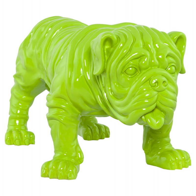 Statuelle-förmige Hund LOUME Fiberglas (grün) - image 20260