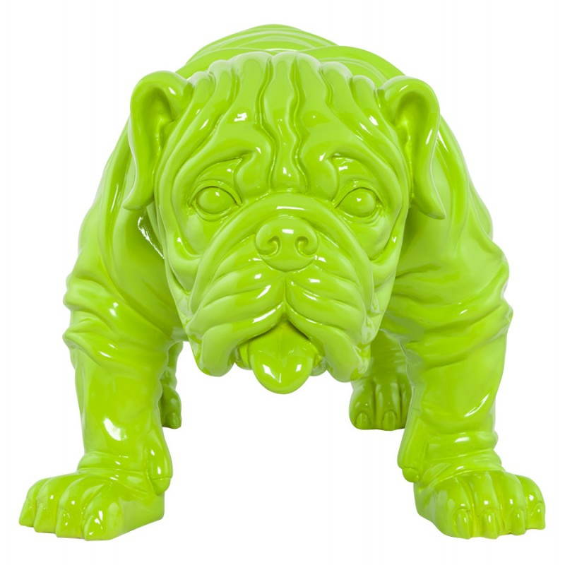 Statuelle-förmige Hund LOUME Fiberglas (grün) - image 20261