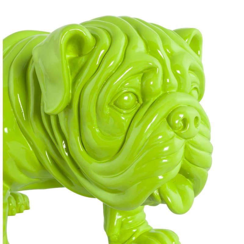 Statuelle-förmige Hund LOUME Fiberglas (grün) - image 20264