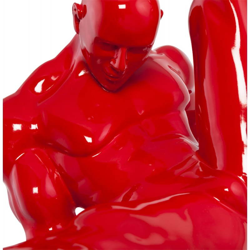 Statuette-shaped sports TROPHEE fiberglass (red) - image 20274