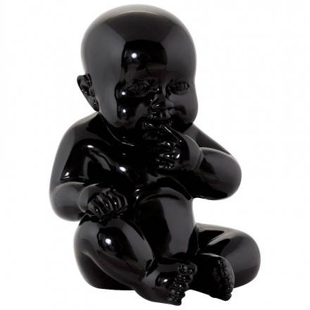 Statuette form baby KISSOUS fiberglass (black)