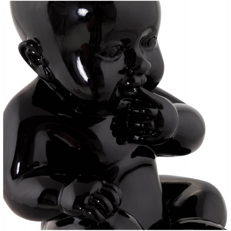 statuette form baby kissous fiberglass black
