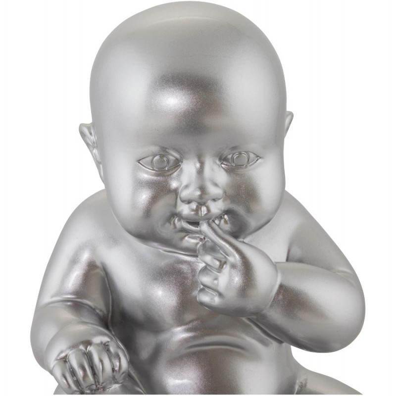 Statuette forme bébé KISSOUS en fibre de verre (aluminium) - image 20315