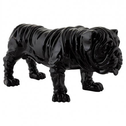 Statuelle dog form OUPS glass fiber (black)