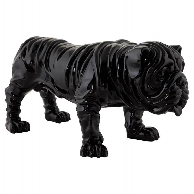 Statuelle forma de perro fibra de vidrio OUPS (negro)