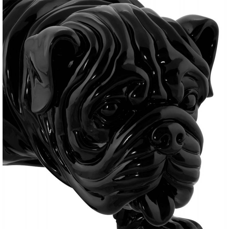 Statuelle dog form OUPS glass fiber (black) - image 20320