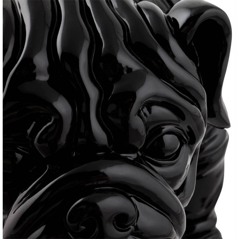 Statuelle dog form OUPS glass fiber (black) - image 20325