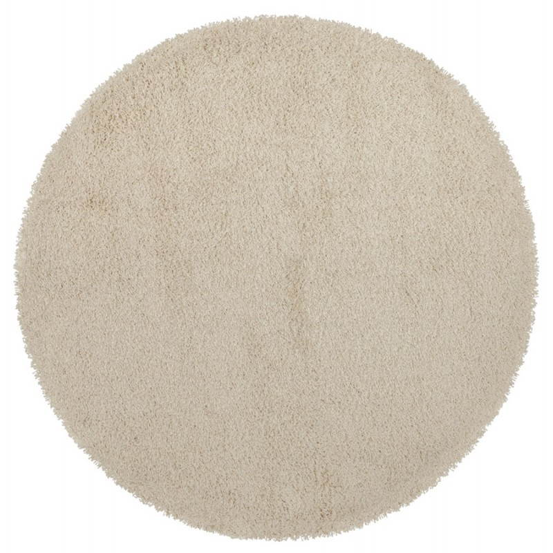 Contemporary rugs and design MIKE round small model (Ø 160 cm) (cream)