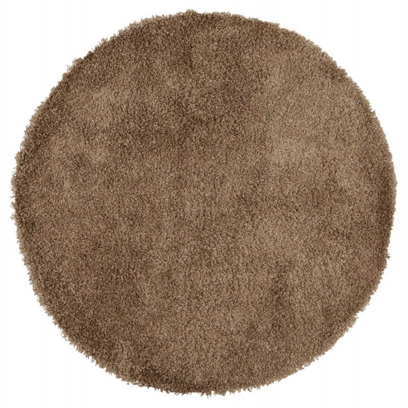 Contemporary rugs and design model small round MIKE (Ø 160 cm) (Brown) - image 20359
