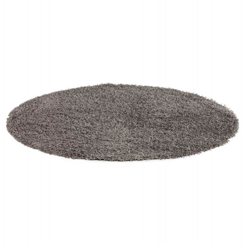 Tappeti contemporanei e design MIKE rotondo modello piccolo (Ø 160 cm) (grigio) - image 20379